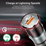 Ultra-Small Car Charger with Qualcomm QC 3.0 Quick Charge