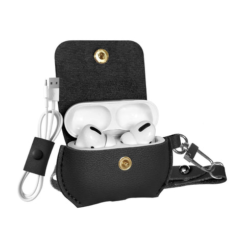 Elegant Leatherette Case with Cable Organizer for Airpods Pro