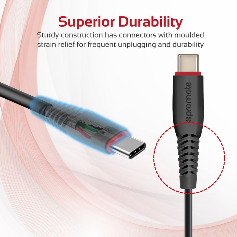 Premium Ultra-Flexible 3m USB to Type-C™ Charging and Syncing Cable