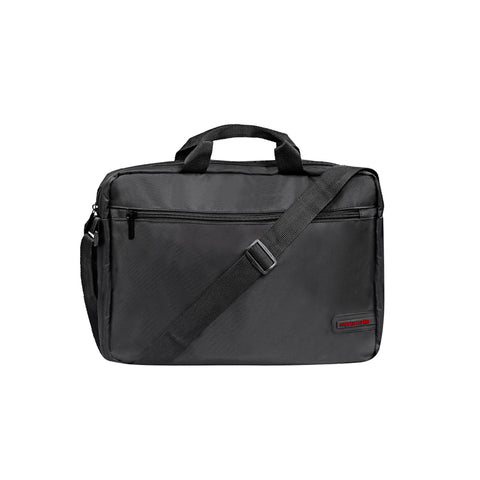 "Premium Lightweight Messenger Bag for Laptops up to 15.6"" with Front Storage Zipper"
