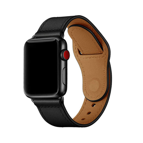 Genuine Leather Strap with Pin-and-Tuck Closure for 42mm Apple Watch