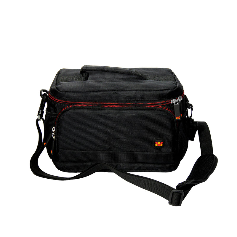 Compact Camera and Camcorder Shoulder Bag with Front Pocket and Battery Storage