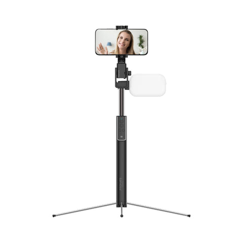 Remote Motion Controlled Selfie Stand with LED Light