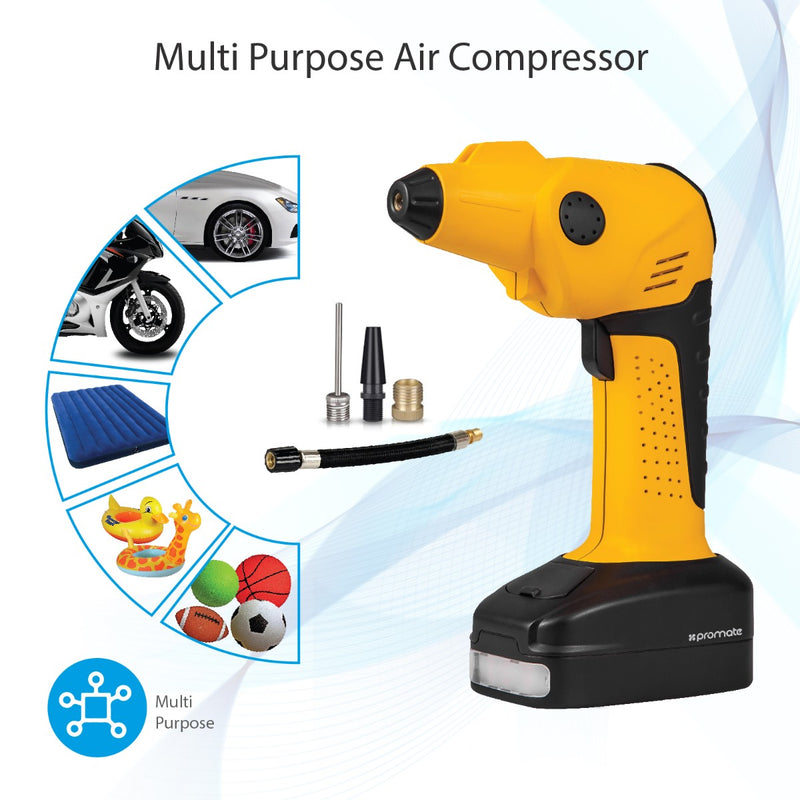 250A/12V Emergency Jump Starter with Portable Electronic Air Compressor