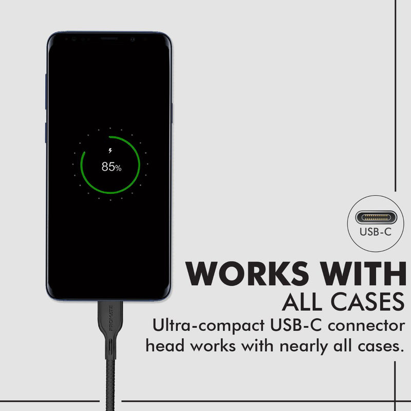Anti-Tangle High Tensile Strength USB-C Cable