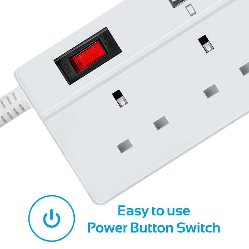PowerStrip-4UK White