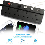 PowerStrip-4UK Black