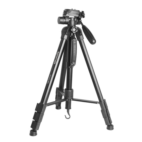 4-Section Convertible Aluminum Alloy Tripod with Integrated Monopod