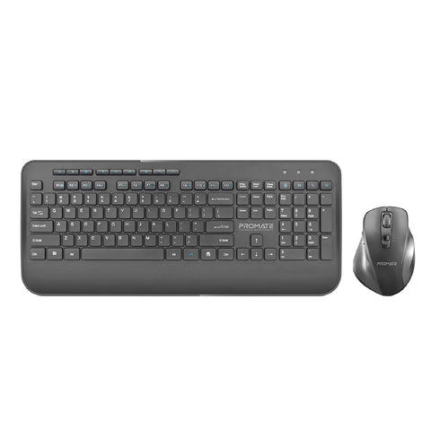 Ergonomic Full-Size Wireless Keyboard & Mouse Combo with Palm Rest