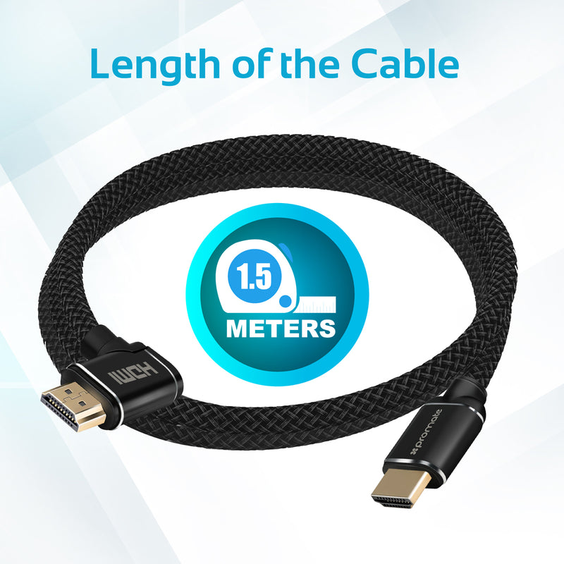 High Definition Right Angle 4K HDMI Audio Video Cable