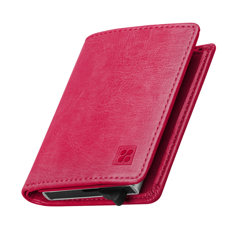 separation shoes 9a07e f62e1 RFID Safe Leather Slim Wallet with Aluminum Card Case – Promate ...