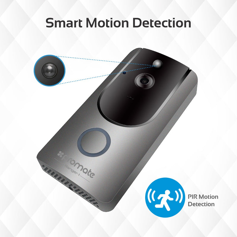 Wi-Fi HD Video Doorbell with Smart Motion Security System