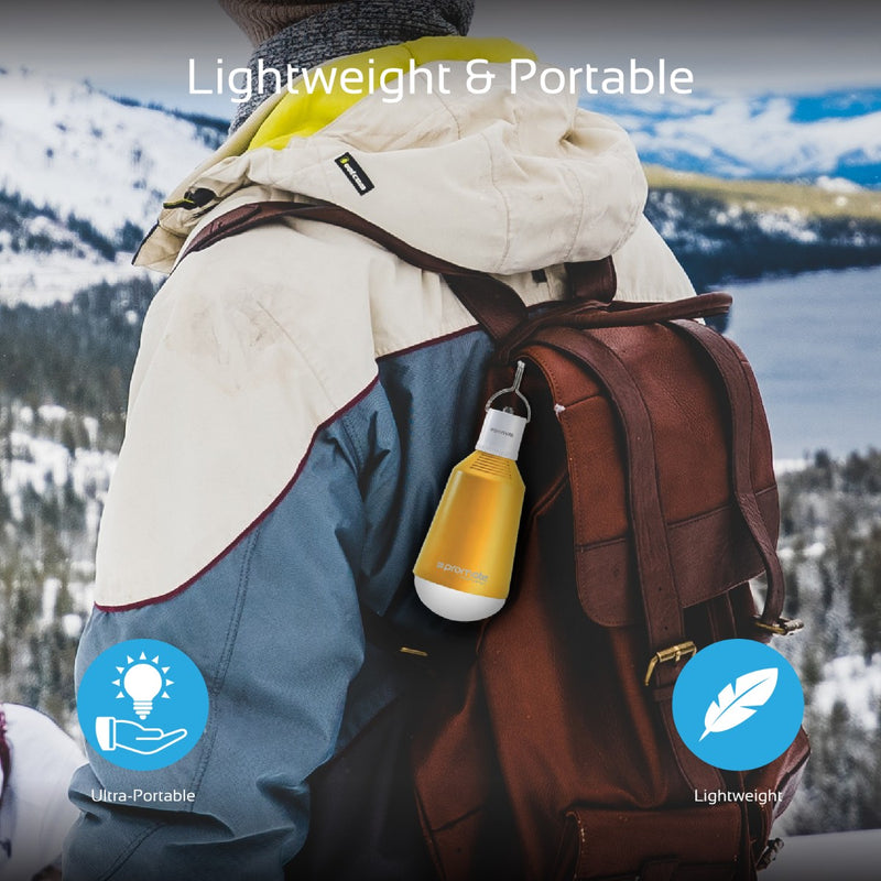 Super Bright LED Camping Lamp with Fast Charging Solar Panel & Built-in Power Bank