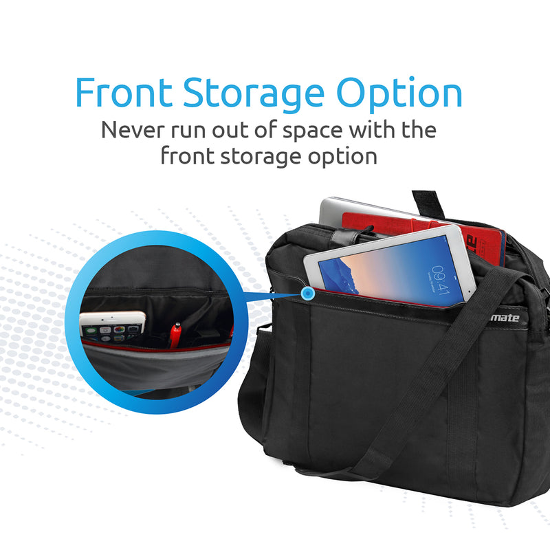 """d1e8e82e37 Lightweight Messenger Bag with Front Storage Option for Laptops up to 15.6"""""""