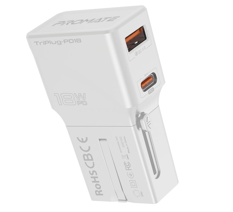 TriPlug-PD18 White
