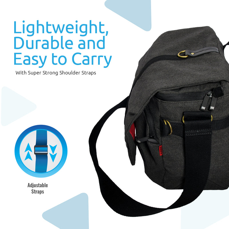 3ee9b55376d Contemporary DSLR Camera Bag with Adjustable Storage, Water-Resistant Cover  and Shoulder Strap