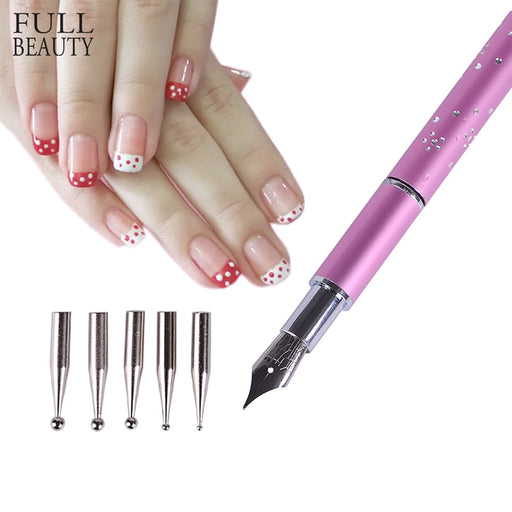 Full Beauty 6pcs/set Nail Dotting Pen
