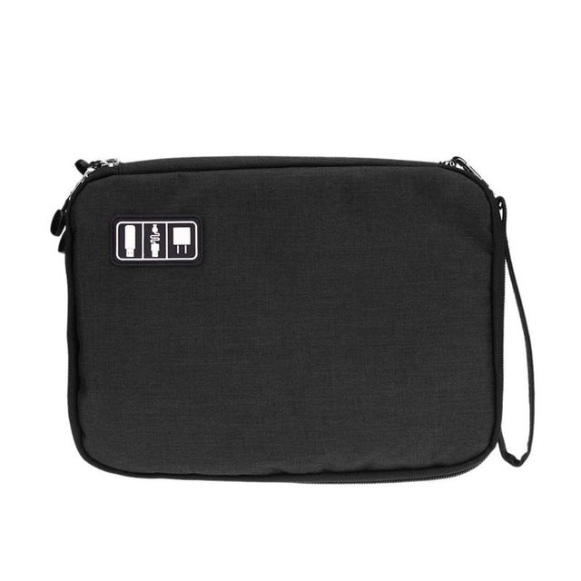 2 Layer USB Cable Storage Bag