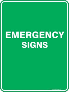 Emergency Signs and Stickers