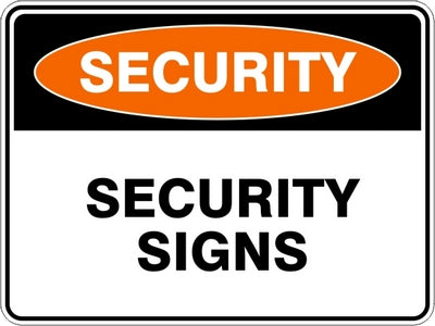 Security Signs and Stickers