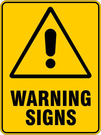 Warning Signs and Stickers