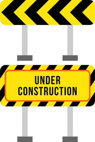 Road Signs Kids Construction Wall Sticker
