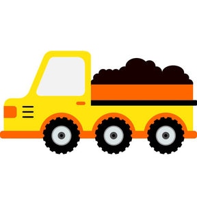 Dump Truck Kids Construction Wall Sticker