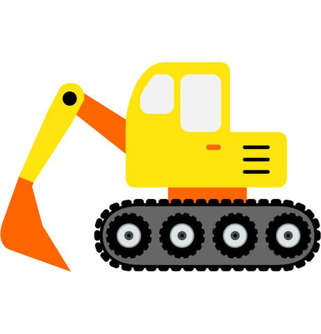 Digger Kids Construction Wall Sticker