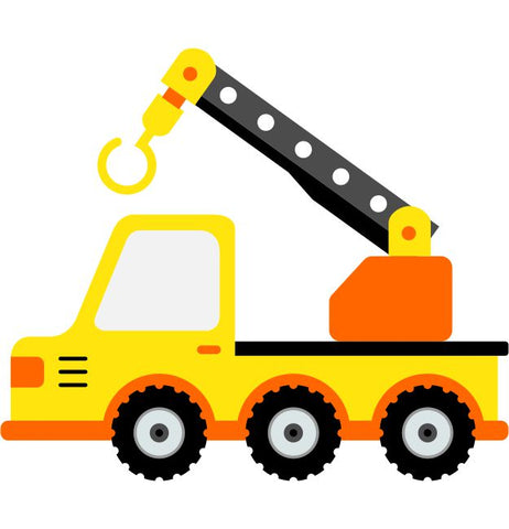 Crane Truck Kids Construction Wall Sticker