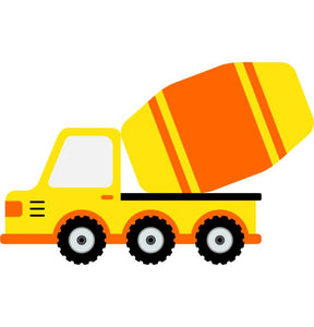 Cement Truck Kids Construction Wall Sticker