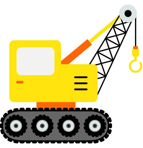 Crane Kids Construction Wall Sticker