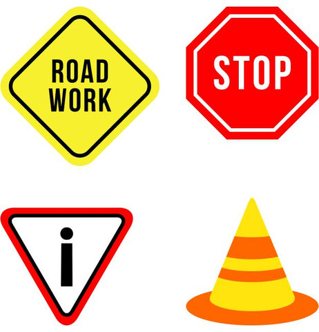 Traffic Signs Kids Construction Wall Sticker