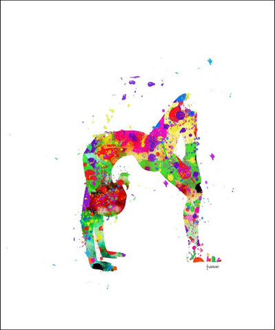 Gymnast Wall Art #1 - 45cm x 56cm Removable and Repositionable Wall Decal