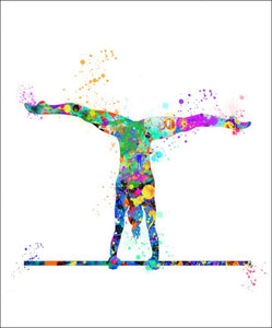 Gymnast Wall Art #2 - 45cm x 56cm Removable and Repositionable Wall Decal