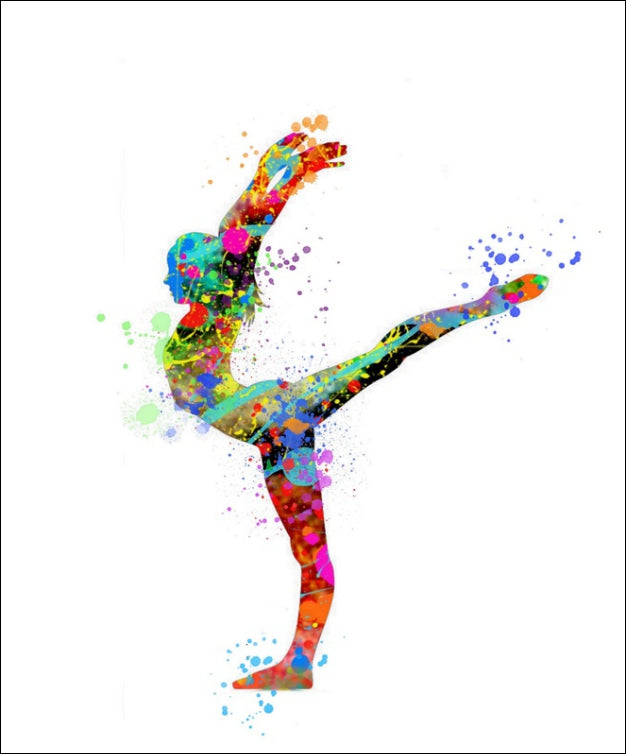 Gymnast Wall Art #3 - 45cm x 56cm Removable and Repositionable Wall Decal