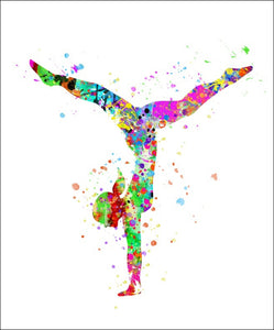 Gymnast Wall Art #4 - 45cm x 56cm Removable and Repositionable Wall Decal