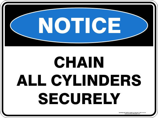 Notice Sign - Chain All Cylinders