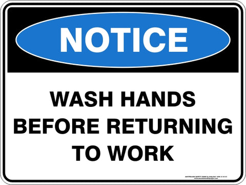 Notice Sign - Wash Hands
