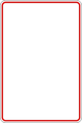Parking Sign - (Design your own) Red Border