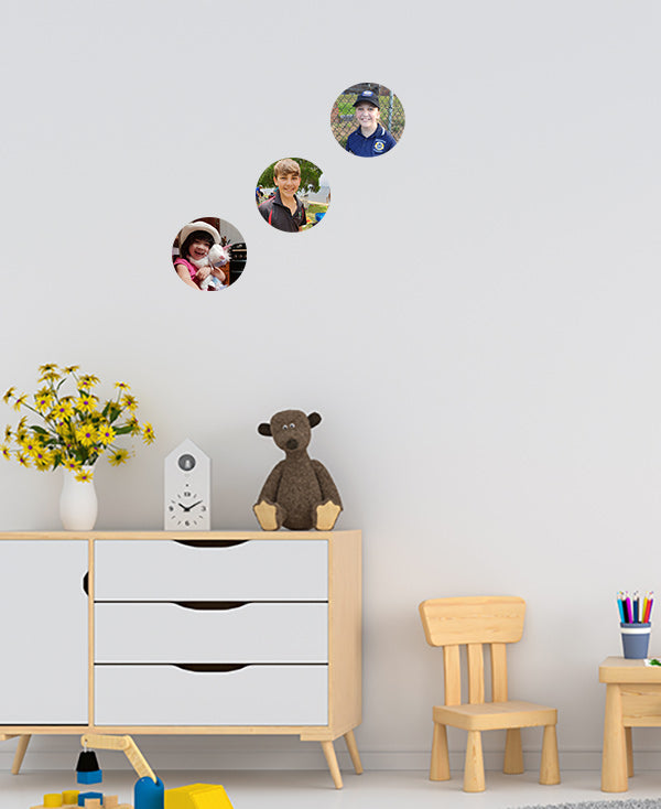 Set of 3 - Small Photo Dot Wall Sticker by Sticky Bods (15cm)