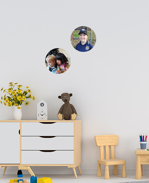 Set of 2 - Medium Photo Dot Wall Sticker by Sticky Bods (23cm)
