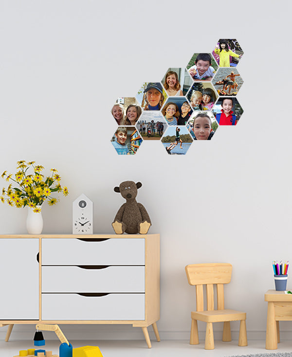 Beehive Collage Wall Stickers by Sticky Bods 10cm (Set of 13 Photos)