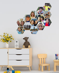 Beehive Collage Wall Stickers by Sticky Bods 15cm (Set of 13 Photos)