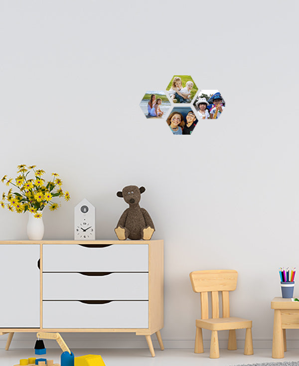Small Hexagon Wall Stickers by Sticky Bods 10cm (Set of 4)