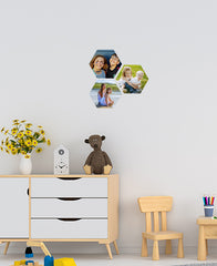 Medium Hexagon Wall Stickers by Sticky Bods 15cm (Set of 3)