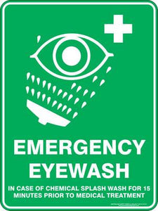 Emergency Sign - Emergency Eyewash
