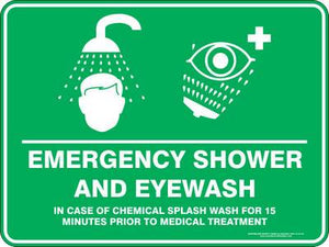 Emergency Sign - Emergency Shower And Eyewash