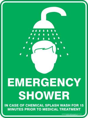 Emergency Sign - Emergency Shower