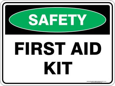 Emergency Sign - Safety First Aid Kit