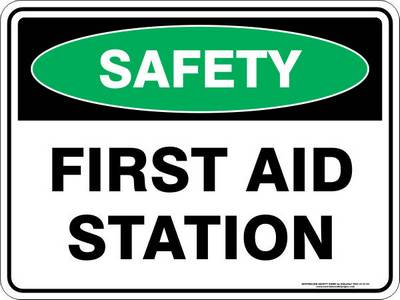 Emergency Sign - Safety First Aid Station